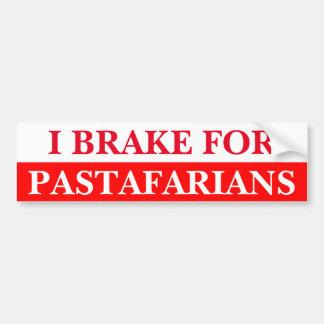 Autocollant De Voiture Je freine pour Pastafarians