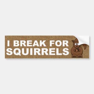 Autocollant De Voiture Je me casse pour des écureuils
