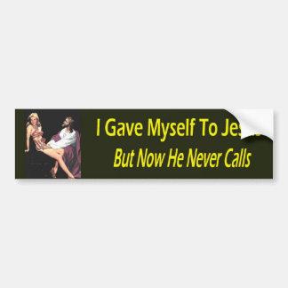 Autocollant De Voiture Je me suis donné à Jésus…