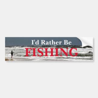 Autocollant De Voiture Je pêcherais plutôt