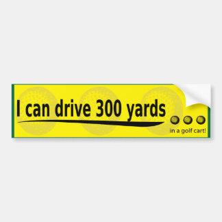 Autocollant De Voiture je peux conduire 300 yards