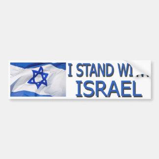 AUTOCOLLANT DE VOITURE JE REPRÉSENTE L'ISRAËL