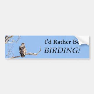 Autocollant De Voiture Je serais plutôt Birding !