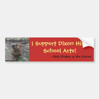 Autocollant De Voiture Je soutiens des arts de lycée de Dixon (la loutre)