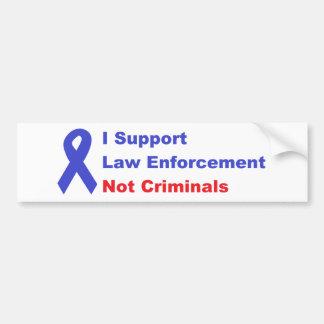 Autocollant De Voiture Je soutiens des criminels de police pas