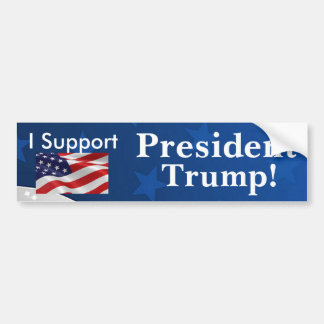 Autocollant De Voiture Je soutiens le Président Trump !