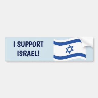 AUTOCOLLANT DE VOITURE JE SOUTIENS L'ISRAËL !