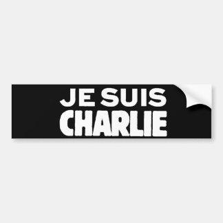 Autocollant De Voiture Je Suis Charlie - je suis blanc de Charlie sur le