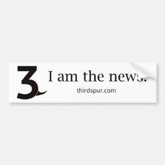 Autocollant De Voiture 'Je suis les nouvelles