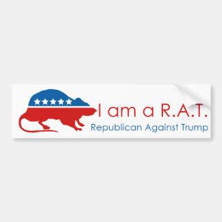 Autocollant De Voiture Je suis un R.A.T : Républicain contre l'atout