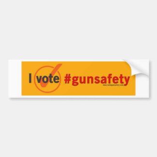 Autocollant De Voiture Je vote le bumpersticker de sécurité d'arme à feu