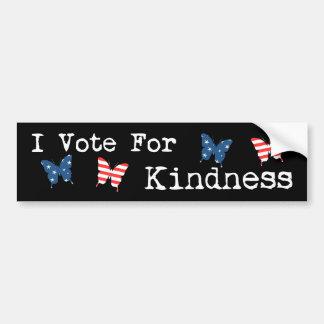 Autocollant De Voiture Je vote pour la gentillesse
