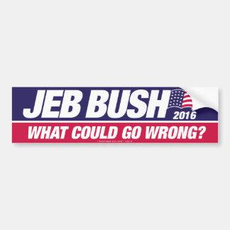 Autocollant De Voiture Jeb Bush 2016