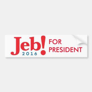 Autocollant De Voiture Jeb Bush pour l'adhésif pour pare-chocs 2016 de