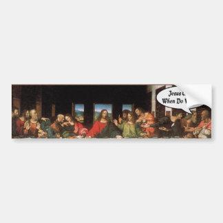Autocollant De Voiture Jésus-Christ quand nous mangeons ? - Dernier dîner
