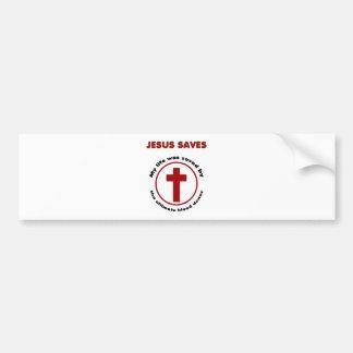 Autocollant De Voiture Jésus économise, T-shirt chrétien de cadeau de