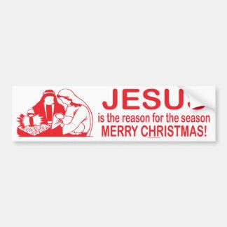Autocollant De Voiture Jésus est la raison de l'adhésif pour pare-chocs