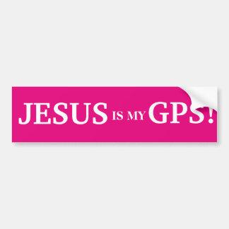 Autocollant De Voiture Jésus est mon GPS !