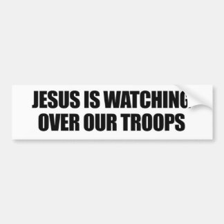 Autocollant De Voiture Jésus observe au-dessus de notre adhésif pour