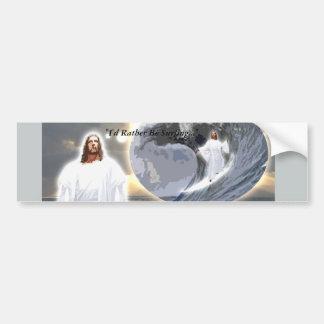 Autocollant De Voiture Jésus surfant Bumpersticker