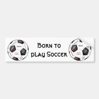 Autocollant De Voiture Jeu de football de motivation, mots de sports
