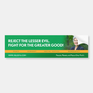 Autocollant De Voiture Jill Stein pour le bumpersticker de