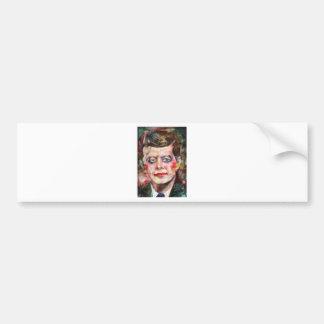 Autocollant De Voiture John F. Kennedy - portrait d'aquarelle