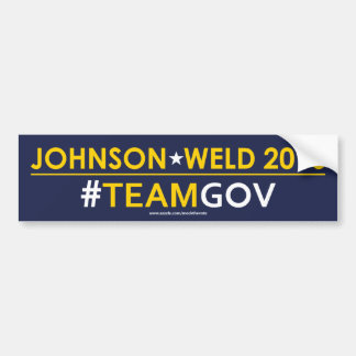 Autocollant De Voiture Johnson/#TEAMGOV libertaire adhésif pour