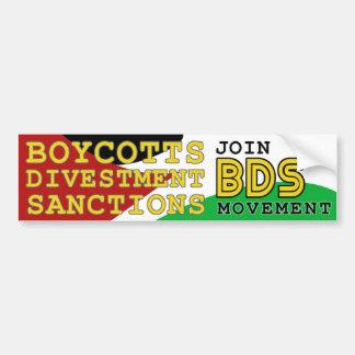 Autocollant De Voiture Joignez l'appui Palestine de mouvement de BDS