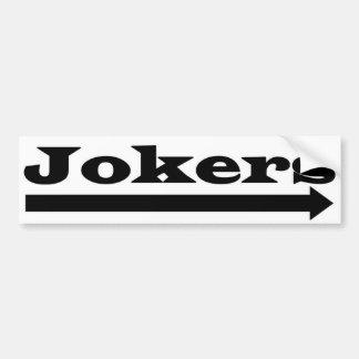 Autocollant De Voiture Jokers droits