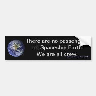 Autocollant De Voiture Jour de la terre : Nous sommes tout l'équipage sur