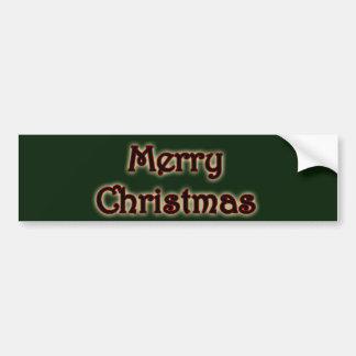 Autocollant De Voiture Joyeux Noël rougeoyant