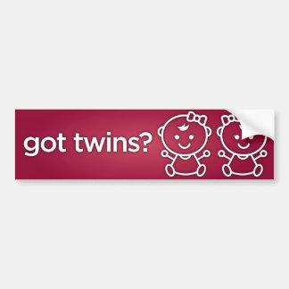 Autocollant De Voiture Jumeaux obtenus ? Adhésif pour pare-chocs de