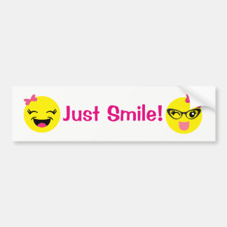 Autocollant De Voiture Juste adhésif pour pare-chocs Girly d'Emojis de