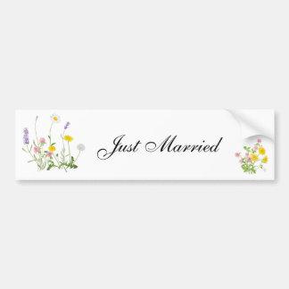 Autocollant De Voiture Juste bouquet rustique marié de fleur