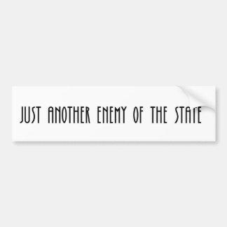 Autocollant De Voiture Juste un autre ennemi de l'état