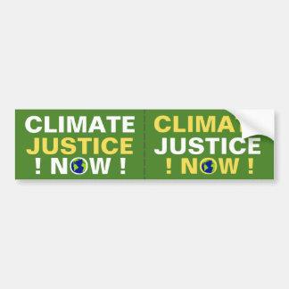 AUTOCOLLANT DE VOITURE JUSTICE DE CLIMAT MAINTENANT !