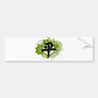 Autocollant De Voiture Kanji pour la paix