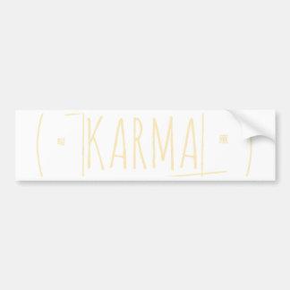 Autocollant De Voiture Karma (pour l'arrière - plan foncé)