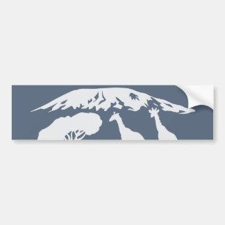 Autocollant De Voiture Kilimanjaro (bleu)