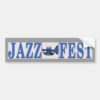 Autocollant De Voiture Klaxon et lettres bleus de Fest de jazz