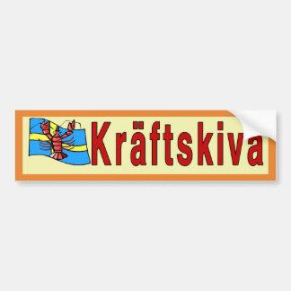 Autocollant De Voiture Kräftskiva, partie d'écrevisses, Suède