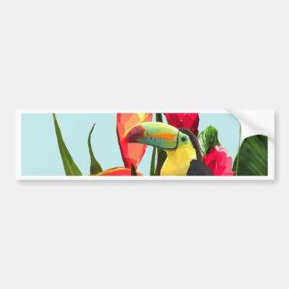 Autocollant De Voiture La banane tropicale de toucan part du bouquet