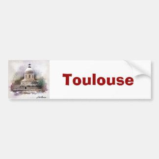 Autocollant De Voiture La Basilique Saint-Pierre de Toulouse.
