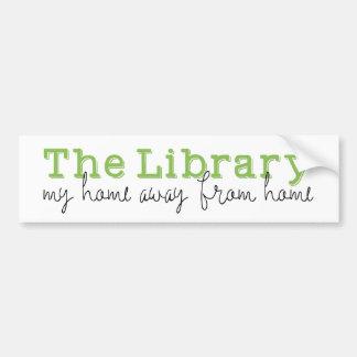 Autocollant De Voiture La bibliothèque : Ma maison non domestique