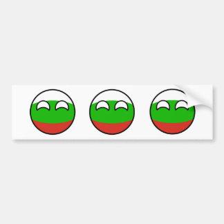 Autocollant De Voiture La Bulgarie Geeky tendante drôle Countryball