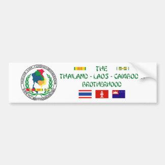 Autocollant De Voiture La confrérie du Thaïlande-Laotien-Cambodge