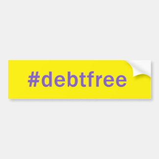 Autocollant De Voiture La dette de Hashtag libèrent l'adhésif pour