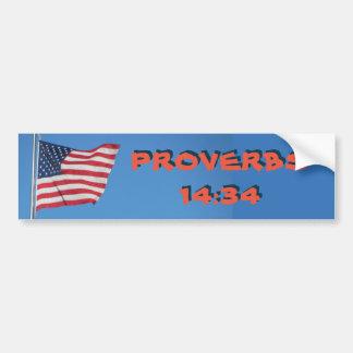 Autocollant De Voiture La droiture de 14h34 de proverbes de drapeau des