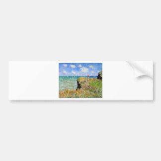 Autocollant De Voiture La falaise de Pourville de Claude Monet